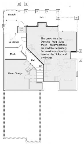 Dancing Frog Lodge lower floor plan