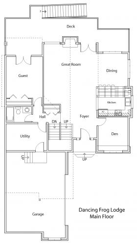 Dancing Frog Lodge main floor plan