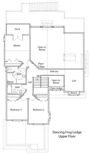 Dancing Frog Lodge upper floor plan