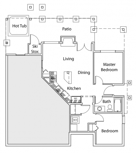 Dancing Frog property rental suite floor -plan